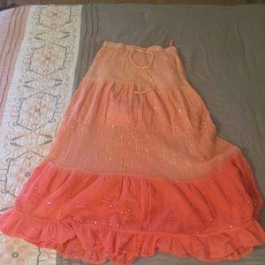 Pretty orange ombre maxi skirt.